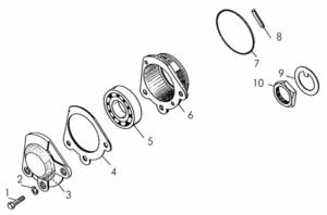 Детали крепления валов 50-12-247СП, 50-12-298СП