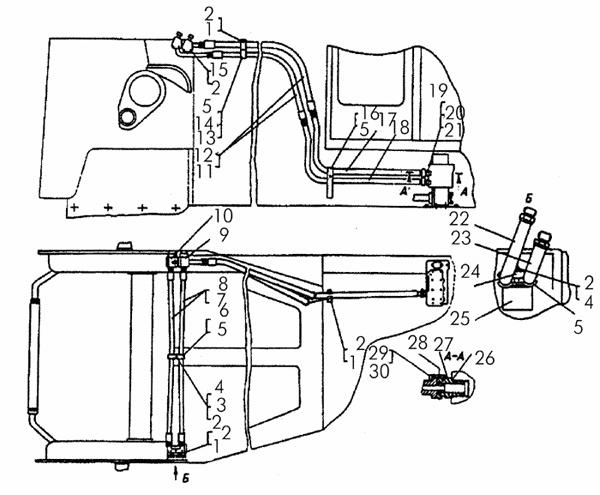 Установка передних трубопроводов картинка