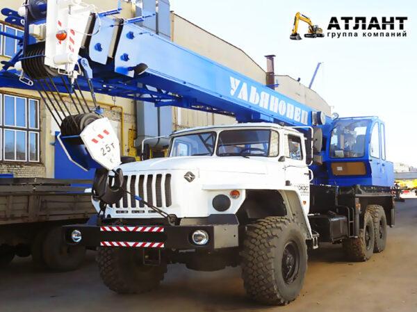 УМЗ-2 Автокран Ульяновец МКТ-25.5 / УРАЛ (25 тонн)
