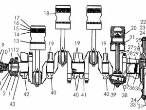 Кривошипно-шатунный механизм дизеля