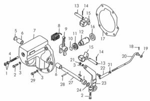 Регулятор пускового двигателя