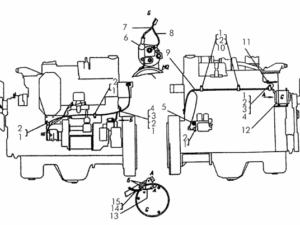 Электрооборудование дизеля с пусковым двигателем