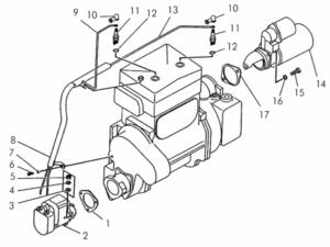 Электрооборудование пускового двигателя