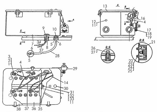 Установка аккумуляторных батарей на тракторах с пусковым двигателем