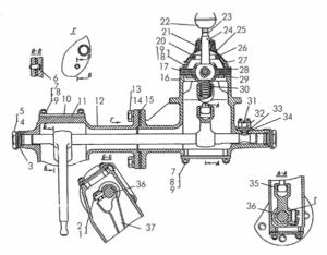 Механизм переключения передач тракторов болотоходных модификаций