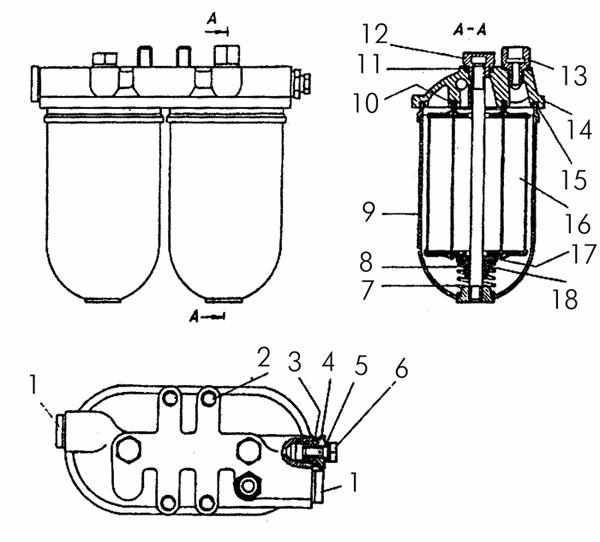 Фильтр топливный тонкой очистки заказать запчасть