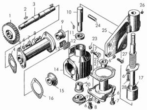 Механизм ручного вращения коленчатого вала пускового двигателя заказать